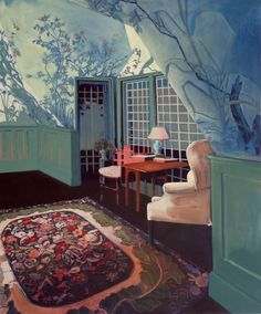 From Cynthia Corbett Gallery, Eleanor Watson, Interior Oil on canvas, 137 × 122 in Untitled Film Stills, Visual Cue, Cindy Sherman, Contemporary Photography, Oil On Canvas, Artsy, Gallery, Illustration, Artwork