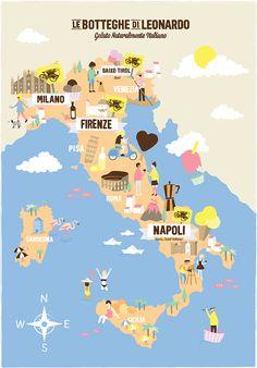 Filipa Pinto - Icecream Map of Italy
