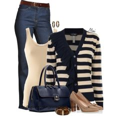 Michaela by myfavoritethings-mimi on Polyvore featuring Armani Jeans, iHeart, NYDJ, Tory Burch and Lauren Ralph Lauren