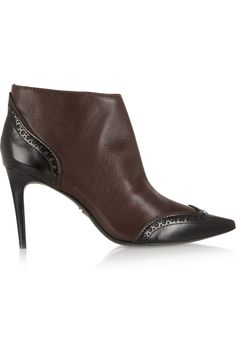 Tory BurchNoelle smooth and polished leather ankle boots