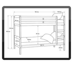 Buy HOME Detachable Single Bunk Bed Frame - White at Argos.co.uk - Your Online Shop for Children's beds, Children's furniture, Home and garden.