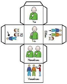 Subject pronouns in Spanish Elementary Spanish, Teaching Spanish, Spanish Grammar, Spanish Class, Learn Spanish Free, How To Speak Spanish, Reading Games, Free Lesson Plans, Learning Colors