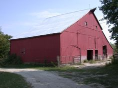 Murphy barn,  7606 Stony Hollow Road, Burlington (Des Moines County)-Stony Hollow Road goes off Highway 99.  Primitive historic barn has horse stalls, milking area, hog house, corn crib, cattle feeding area, and hay loft.  Barn is still used for agriculture.