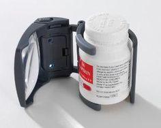 Medicine bottle magnifier... Cool...