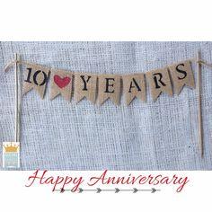 Cake Topper Birthday Cake Topper Burlap Banner by QueensBanners