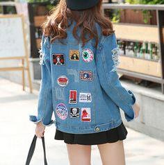 Casual Long-sleeved Denim Jacket
