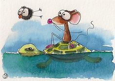 Mouse and crow go on an adventure with Turtle... Enjoy!