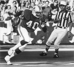 Mike Haynes played for the Pat's from 1976-82 he had 28 interceptions with the Patriots for 393 yards. He was a nine-time Pro Bowl selection who is on a very short list of the best cover corners in league history. Haynes had one of the great rookie seasons in Patriots annals in '76, interception eight passes while returning two punts for touchdowns. Twenty-one years after his debut, he was elected to the Pro Football Hall of Fame. (Globe Photo)