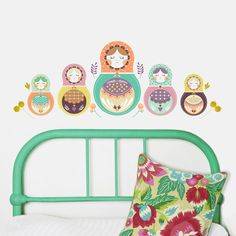Matryoshka Nesting Doll Wall Decals