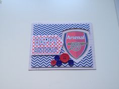 Arsenal card adapted from #svgcuts 5 minute card kit.