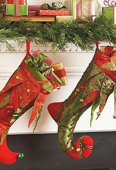 Grace your mantle with festive cheer with the Kringle Stockings that are perfect for filling with fun trinkets and treasures for your family this Christmas.