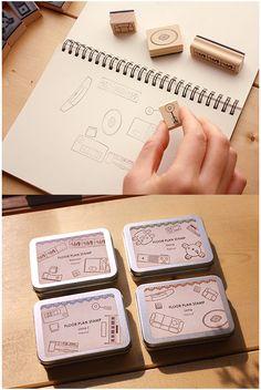 Floor Plan Stamp Set