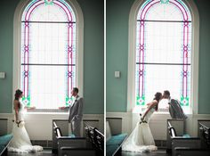nashville wedding photographers, west end church of christ, film photography, nashville film photographer, stained glass church, portra 400, canon 1n, canon 135