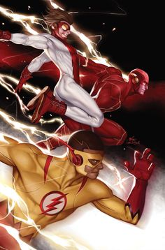 DC Comics. Comic Book Artwork • Flash by InHyuk Lee. Follow us for more awesome comic art, or check out our online store www.7ate9comics.com Comic Books Art, Comic Art, Book Art, John Romita Jr, Reverse Flash, Kid Flash, Flash Art, Big Battle, Avengers