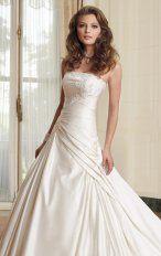 Mermaid Floor Length Strapless Dress White Destination Wedding Gowns 1122 Applique Lace Tippet