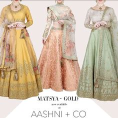 Matsya ~ Gold Now live at Aashni + Co. Shop the collection now✨ #newcollection #summerweddings2017 #matsyagold #gottapatti #parsithreadwork #handcrafted #shopnow @aashniandco
