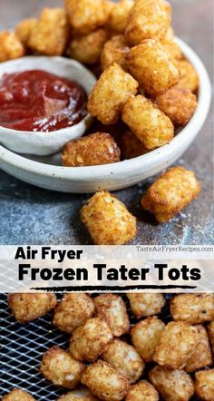 Want perfect tater tots with a crispy outer crust? Make your Frozen Tater Tots . - Want perfect tater tots with a crispy outer crust? Make your Frozen Tater Tots In Air Fryer for TH - Air Fryer Recipes Wings, Air Fryer Recipes Vegetables, Air Fryer Recipes Snacks, Air Fryer Recipes Low Carb, Air Fryer Recipes Breakfast, Air Frier Recipes, Air Fryer Dinner Recipes, Veggies, Breakfast Cooking