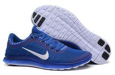 Nike Free White V6 Ext Ocean Blue