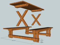 Like us, you've probably seen a lot of picnic tables in your life. But I think you'll admit that this one gets a few extra points for the aesthetics. If you like it as much as we do, we figure you can make it for about a third of the cost of a store-bought picnic table.  So gather with your family and maybe a friend or two and get started. This sturdy looking picnic table will comfortably seat a whole family but if you need something bigger, there's a three metre (10') version...
