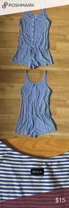 RVCA striped cotton romper Fits s/m. Volcom billabong roxy hurley ripcurl RVCA Dresses