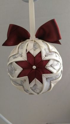 Christmas quilted ball