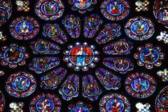 El rosetón del crucero sur, circa 1221-1230 - Catedral de Chartres