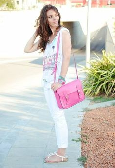 total white with a pop o f colour Celine Luggage, Luggage Bags, Colour, Pop, Fashion, Color, Moda, Popular, Pop Music