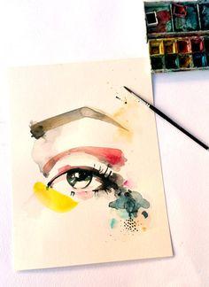 watercolor painting original watercolor por VictoriAtelier en Etsy