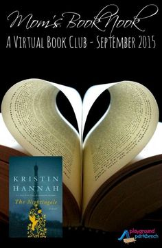 Join our monthly, virtual book club - for busy mom's who still crave great reads.  This month's book is The Nightingale, by Kristin Hannah.  Get all the details for our monthly Facebook discussion and your chance to win next month's book FREE!