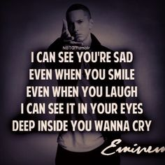 Thanks to my great son for this. I needed it this week. Eminem-my strength.