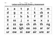 Phase 2-5 phonic assessments
