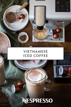Winter may be here, but that doesn't mean you can't enjoy a delicious iced coffee drink. This Vietnamese Iced Coffee recipe is sweet, strong, and very easy to make. Simply combine sweetened condensed milk, a Nespresso Lungo capsule, and ice to create this tasty and refreshing beverage.