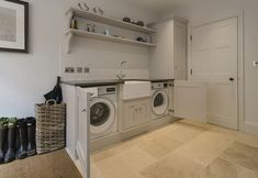 Integral Applainces in Utility Room Garage Laundry Rooms, Home Gym Garage, Laundry Room Layouts, Small Laundry Rooms, Laundry Room Organization, Laundry Room Design, Laundry In Bathroom, Boot Room Utility, Utility Cupboard