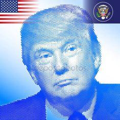 Stati Uniti - novembre 2016 - Donald Trump, 45 ° Presidente degli Stati Uniti damerica — Vettoriali Stock © frizio #130128952