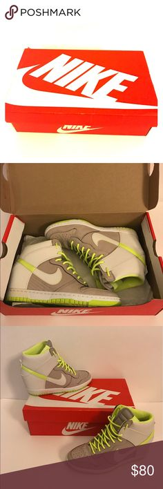 Nike Wedges Sneakers Neon Nike Wedges sneakers. Heeled sneakers worn twice! Nike Shoes