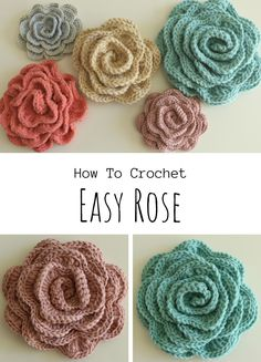 irish crochet flowers If you have some free time and want to decorate you clothing, blankets or living area we have very cute roses for you to make your everyday life more beautif Crochet Daisy, Crochet Leaves, Crochet Motif, Crochet Designs, Crochet Flowers, Easy Crochet Flower, Crochet Buttons, Free Crochet Flower Patterns, Easy Rose