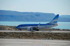 B-737-700 Aerolineas Argentinas LV-CPH - new colours - reversing in El Calafate
