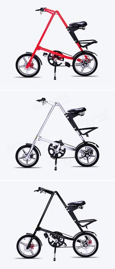 Folding Bike MINI Bicycle 16inch Wheel Smallest Aluminium Alloy Frame - US$459.00
