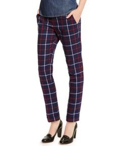 Tommy Hilfiger Straight-Leg Ankle Pants, Plaid