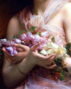 "Etienne Adolphe Piot (French, 1850-1910) ""Flowers"" (Detail), oil on canvas, private collection of Scott and Susan Burdick, USA."