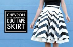 DIY: Duct Tape Skirt, How to make a print with Duct Tape, Chevron Skirt, Scotch Color and Pattern Duct Tape, Jessica Quirk, What I Wore, whatiwore.tumblr.com