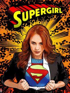 Supergirl illustration.