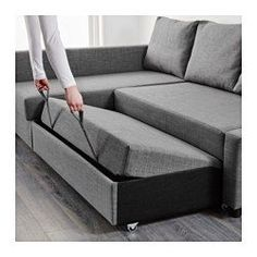 Friheten sleeper sectional 3 seat skiftebo brown sofa for Angled chaise lounge sofa