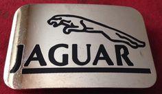 Jaguar Automobile Chrome Logo Belt Buckle by TheHUNTantiques
