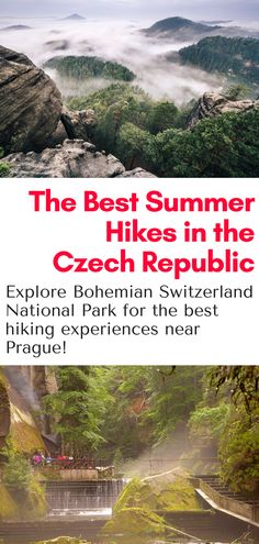 Hiking in the Czech Republic: The best day trip from Prague - hiking in the Bohemian Switzerland National Park. Our tours offer door to door transport and amazing day hikes to the stunning national park in northern Czech Republic!