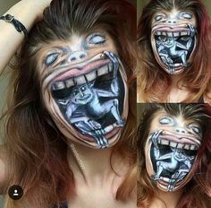 When you click on this one, scroll down and see all the amazing 3-D makeup & tattoos!!