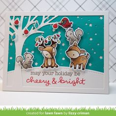"lawnfawn on Instagram: ""Create happy critter scenes with Cheery Christmas! We…"