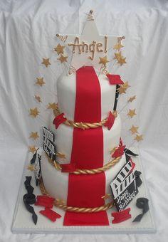 Movie Ticket Themed Birthday Cakes Movie Themed Birthday Cake - Movie themed birthday cake