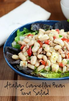 Italian Cannellini Bean Tuna Salad -A Healthy and Filling Lunch