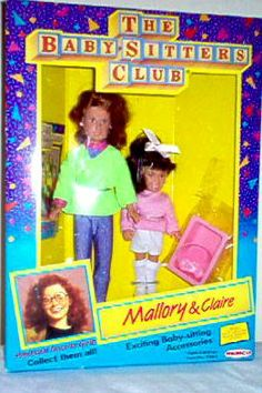 Mallory and Claire BSC Dolls The Baby Sitters Club, Babysitters, Kids Tv Shows, Barbie World, Barbie Dress, Bullet Journal Inspiration, Vintage Barbie, Claire, My Books